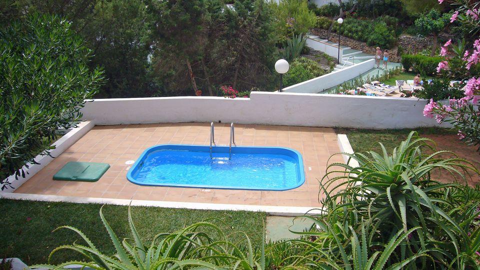Kleiner Pool von oben