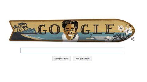 Google Doodle für Duke Kahanamoku