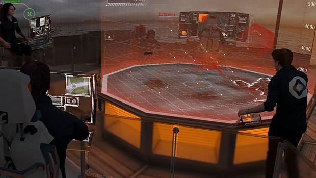 Ein Kommandoraum wie auf einem Raumschiff