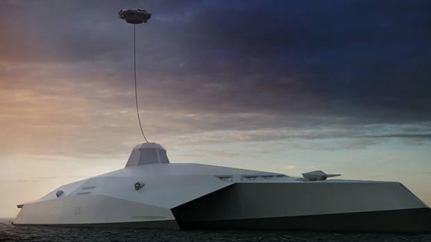 Der Turm ist mit Laserwaffen bestückt und kann oberhalb des Schiffes schweben.
