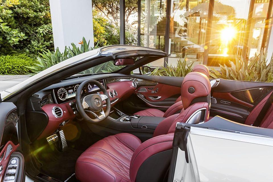 Der Innenraum des Mercedes S Klasse Cabrio 2016