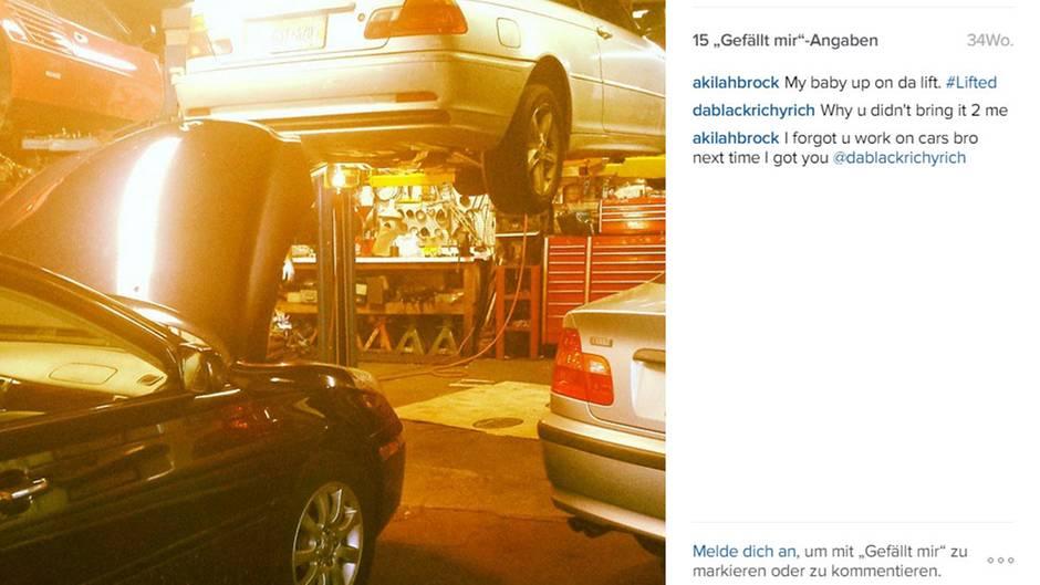 """Der BMW - mein """"baby"""" - muss auch mal in die Werkstatt."""