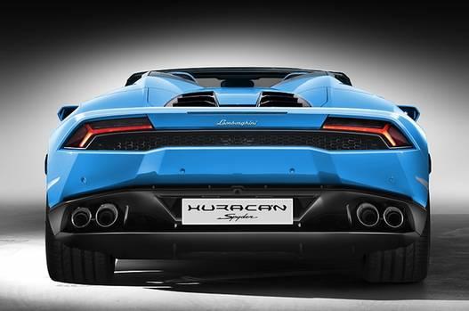Lamborghini Huracan LP 610 4 Spyder - das Heck bleibt Geschmacksache