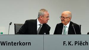 Ein Bild aus besseren Tagen. Ferdinand Piëch (rechts) und Martin Winterkorn