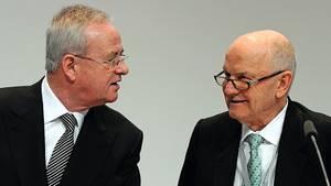 Martin Winterkorn (links) und Ferdinand Piëch - zum Schluss entzweite sich das Duo