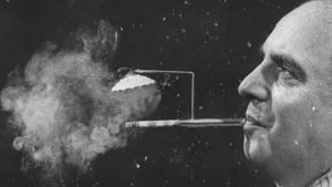 Auch diese Erfindung verhindert, dass der Glimmstenstängel nass wird: Über den Zigarettenhalter wird ein kleines Schirmchen gespannt.