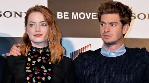 Emma Stone und Andrew Garfield 2014 auf einer gemeinsamen Promotiontour