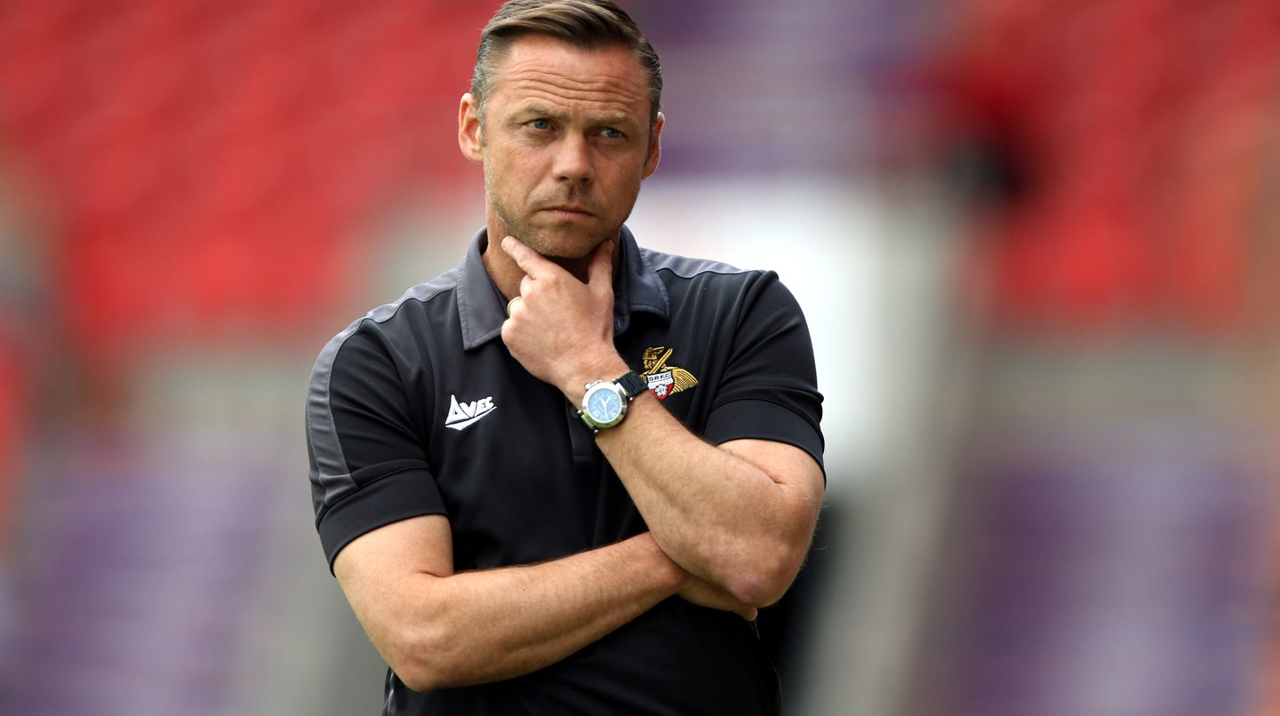 Doncaster Rovers Trainer Paul Dickov