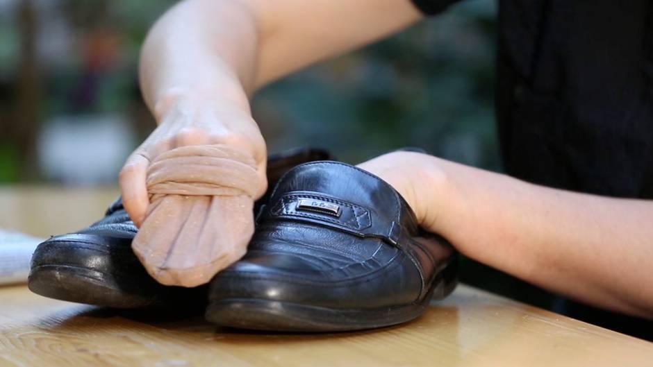Schuhe blitzschnell sauber