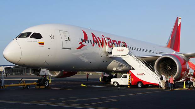 Der Dreamliner von Avianca