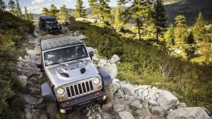 Jeep Wrangler auf dem Rubicon Trail