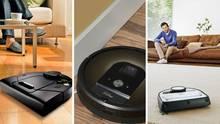 Die Top-Modelle:Netao Botvac Connected, IRobot der Roomba 980 und der Vorwerk Kobold VR200.