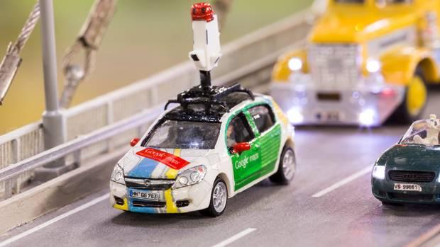 Nahaufnahme unseres Mini-Street-View-Autos