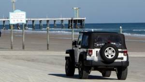 Der Daytona Beach ist auch für Autos geöffnet.