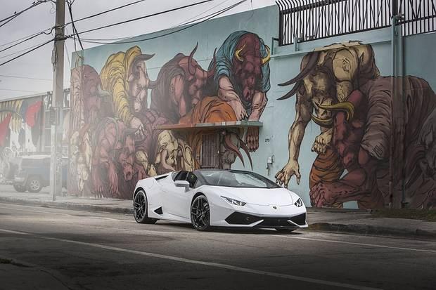 Lamborghini Huracan LP 610-4 Spyder - fällt auf, wie ein bunter Hund