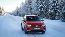 VW Tiguan 2.0 TSI 4motion - unterwegs im nordschwedischen Schnee