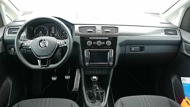 Das Cockpit des neuen VW Caddy Alltrack.
