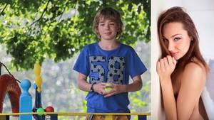 Der Junge Ruslan, der einen Monat mit der Porno-Darstellin Ekaterina Makarova gewonnen hat, arbeitet als Schauspieler