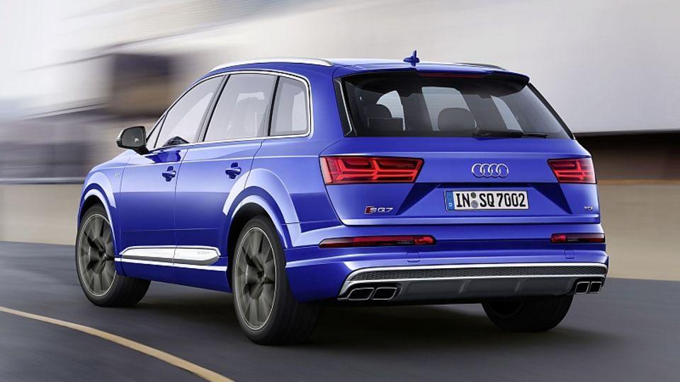Die aus dem Bentley Bentayga bekannte elektromechanische aktive Wankstabilisierung hilft, den Audi SQ7 TDI in der Spur zu halten