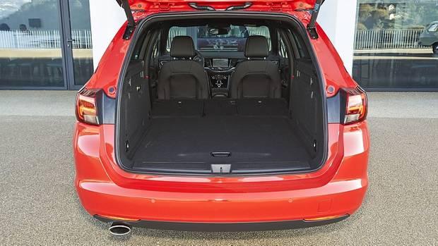 Der Kofferraum fasst 540 bis 1.630 Liter