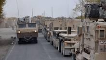 Der Konvoi mit vielen Einzelwagen macht die Truppe beweglicher