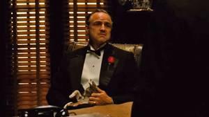 Marlon Brando als Don Corleone.