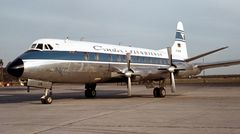 Ab 1961 kam die Vickers V814 Viscount zum Einsatz, die 64 Passagiere transportieren konnte und auch zu Zielen auf den Kanarischen Inseln flog