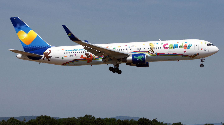 Boeing 767 im Landeanflug