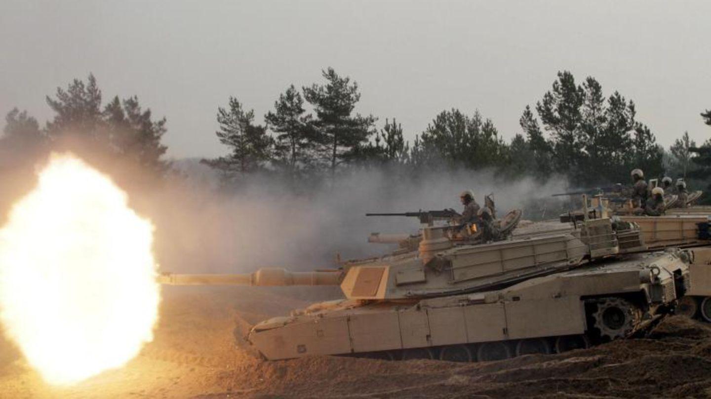 US-Kampfpanzer bei einer Übung in Lettland