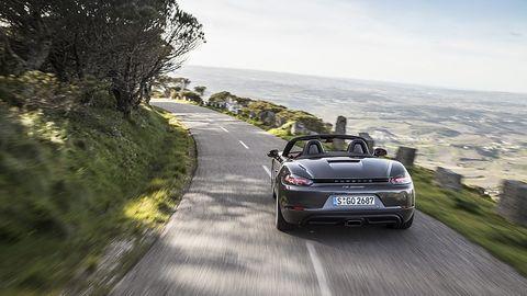 Porsche 718 Boxster S - das Design zeigt sich weitgehend unverändert