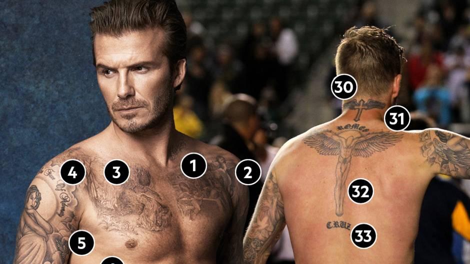 David Beckham Das Bedeuten Seine Zahlreichen Tattoos Stern De