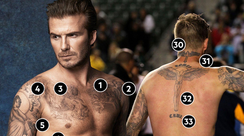 David Beckham Das bedeuten seine zahlreichen Tattoos   STERN.de