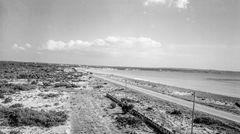 Weder Ballermann noch Schinkenstraße: Der jungfräuliche und fast komplett unbebaute Strand an der Platja de Palma in den frühen 50er Jahren