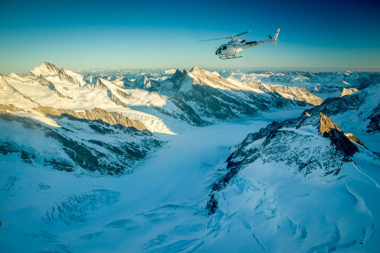 Follow me: Im 360°-Panoramaflug über die Alpen