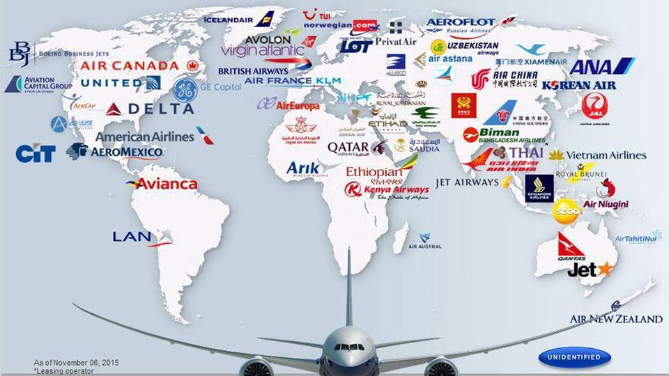 Follow Me: Für die Boeing 787 liegen 1124 Bestellungen von 61 Kunden vor