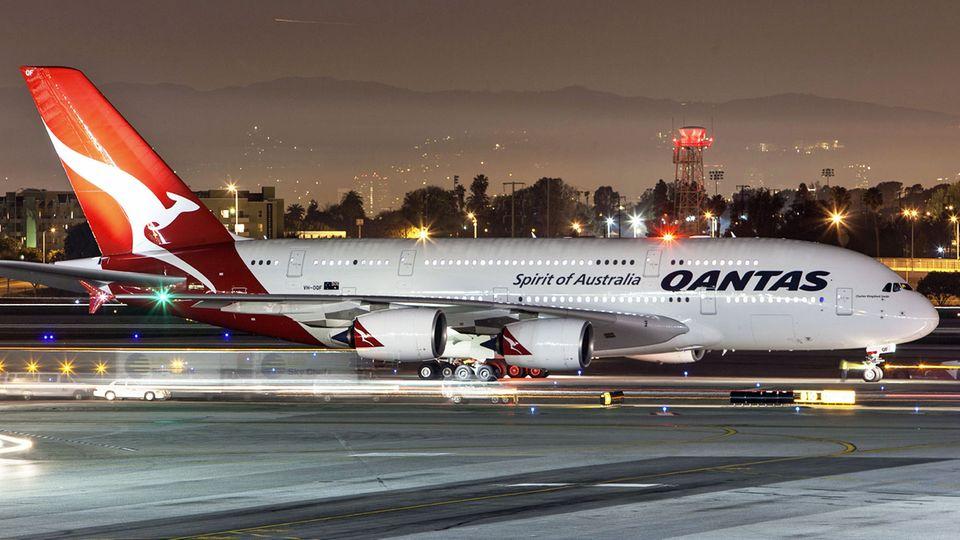 Follow me: Der Airbus A380 von Qantas © iStock