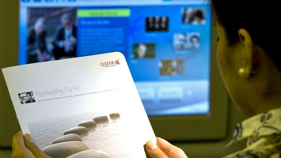 Follow me: Fit bleiben mit Übungen auf einem Ultra-Langstreckenflug © Qatar Airways