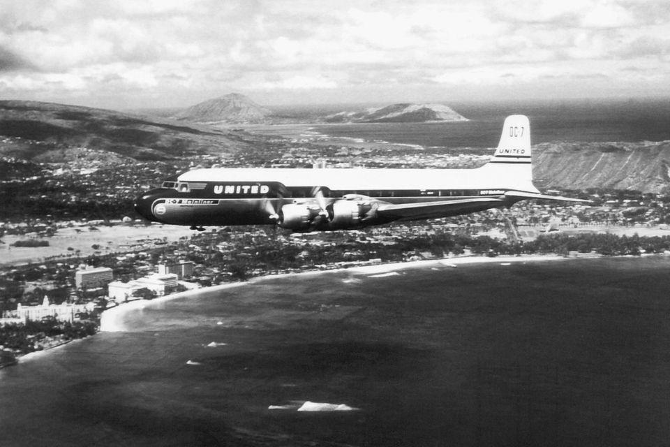 Follow Me: Eine Douglas DC-7 von United Copyright: Picture-Alliance