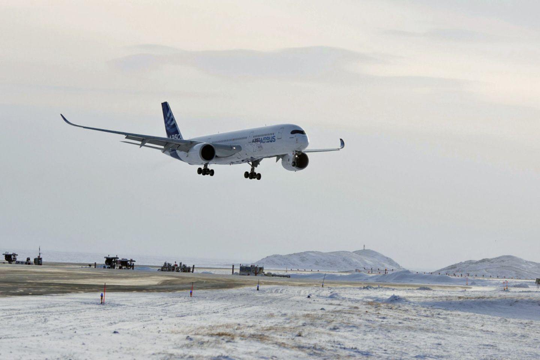 Follow me: Brandneuer Airbus A350 im arktischen Kältetest