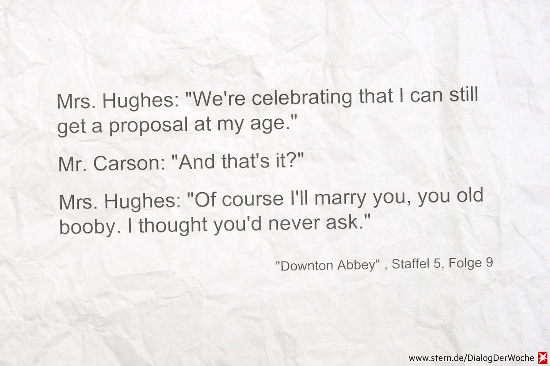 """Seriendialog der Woche: Das überraschendste Hochzeitspaar von """"Downton Abbey"""""""