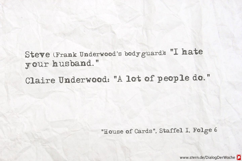 Seriendialog der Woche: Ja, auch ich hasse Frank Underwood