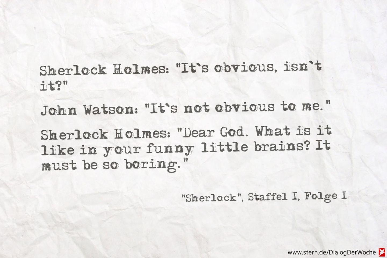 Seriendialog der Woche: Herrlich, diese Sherlock-Arroganz!