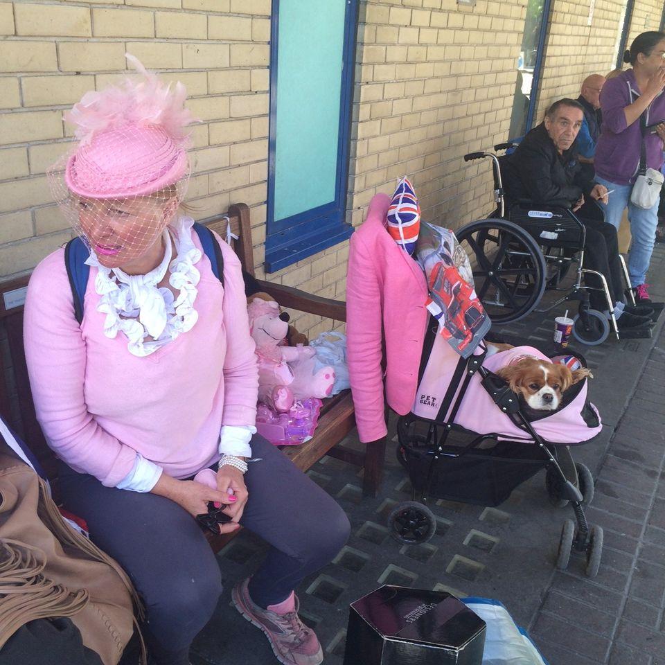 Last Call: Miss Daley, einstige Miss Wales, mit Hund Camilla (rechts). Dahinter ein englischer Patient
