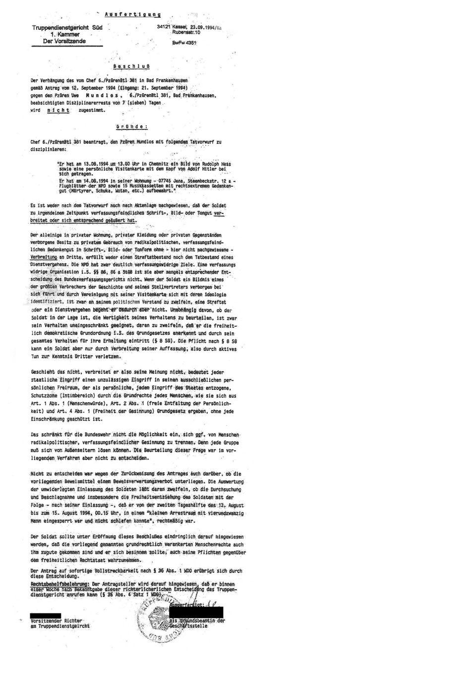 Der Investigativ-Blog: Klicken Sie auf das Bild um das gesamte Urteil zu lesen