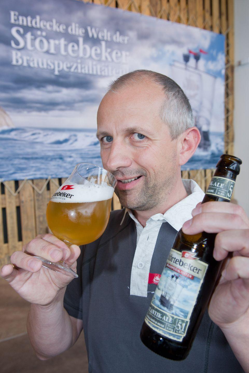 Bier gewinnt: Braumeister Frank Lucas von der Störtebeker-Brauerei landete bei der Wahl zum besten Biersommelier der Welt auf Platz zwei