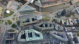 Luftaufnahme des Kontorhausviertels