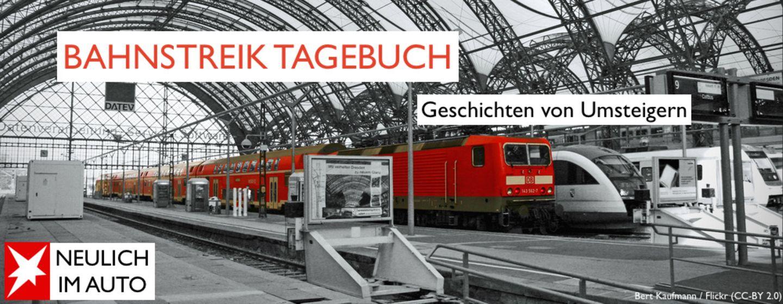 Neulich im Auto: Das Bahnstreik-Tagebuch: Zwei Studenten auf Umwegen