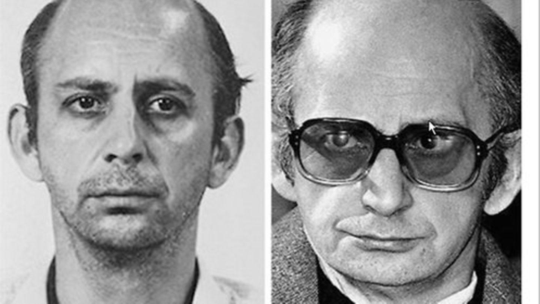 Serienmörder Joachim Kroll (r.) mit seinem Anwalt