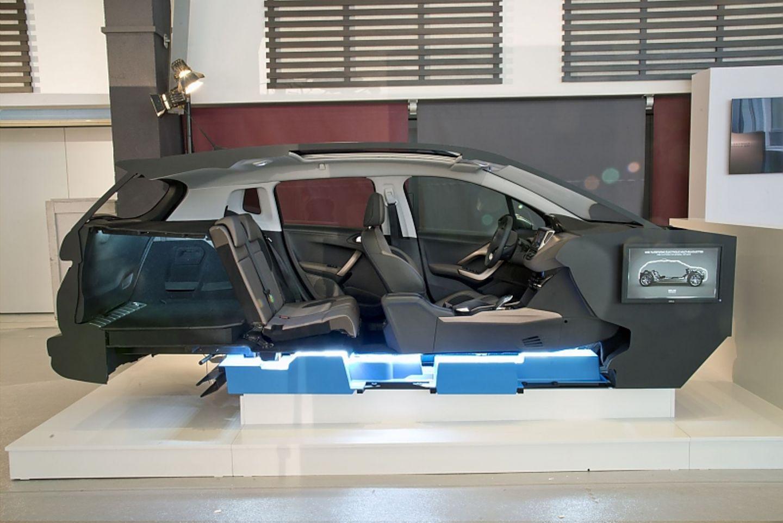Die Batterien werden am Unterboden platziert