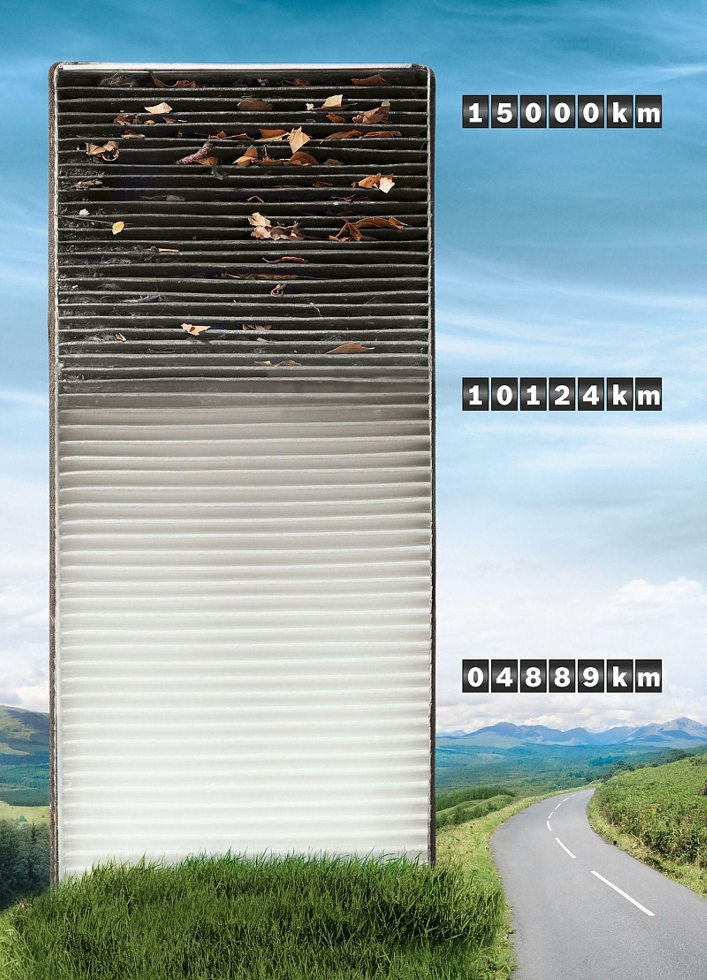 Einmal im Jahr oder alle 15.000 Kilometer sollte der Filter gewechselt werden.